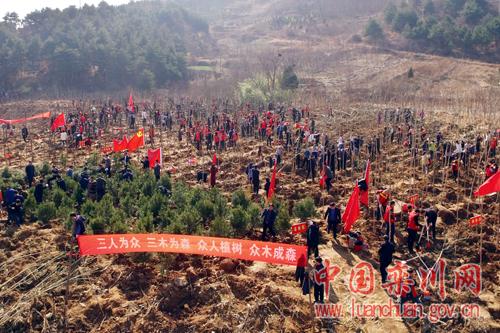 栾川县开展2018年全民义务植树活动